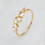 Gold Diamond Style Baguette Ring