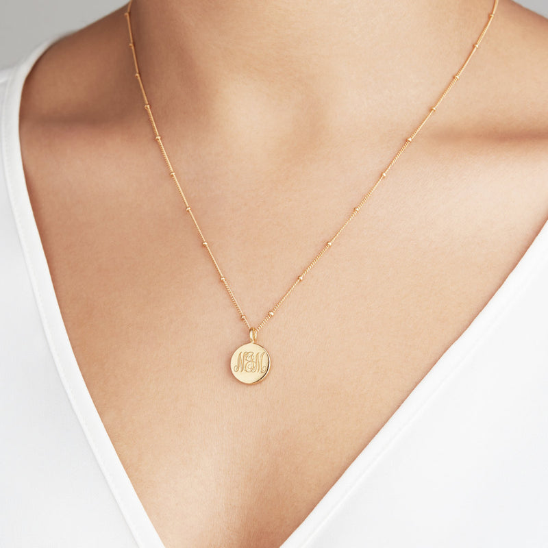 Gold Satellite Chain Necklace