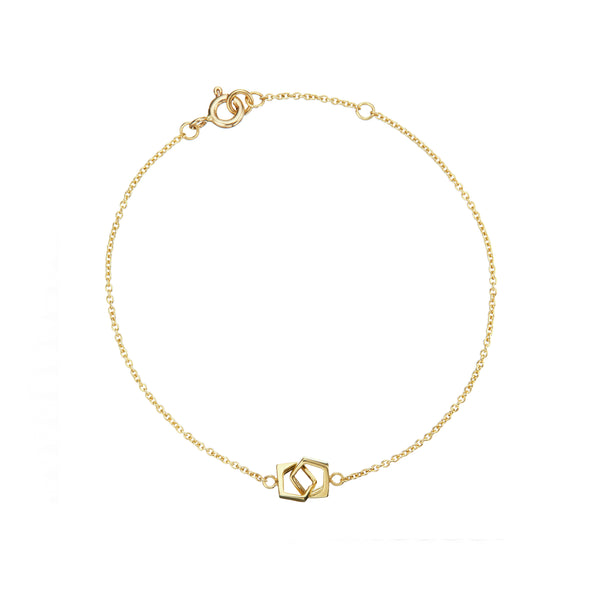 Solid Gold Love Link Bracelet
