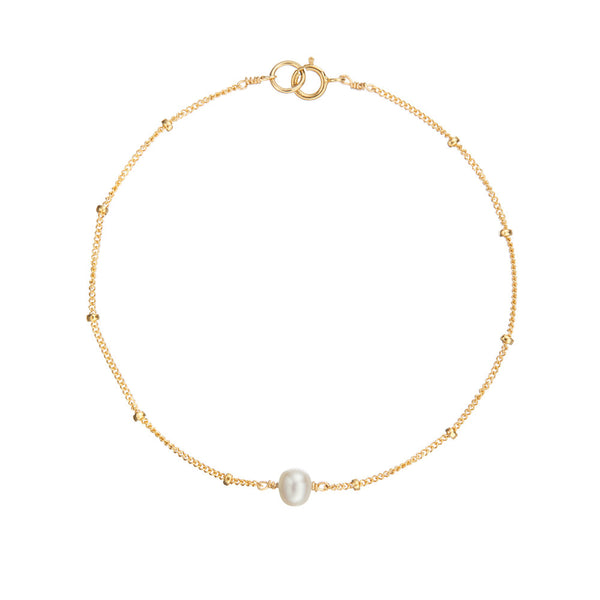 Gold Satellite Pearl Bracelet