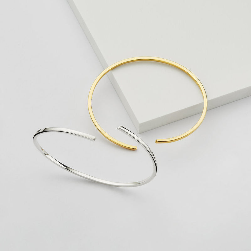 Gold Thin Spiral Bangle