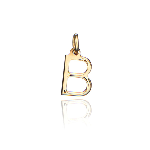 Solid Gold Individual Initial Charm
