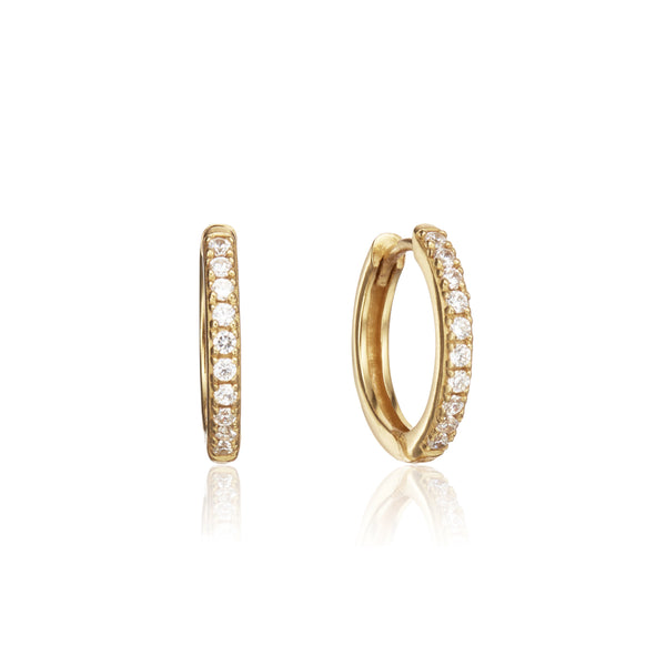 Gold Diamond Style Large Hoop Earrings