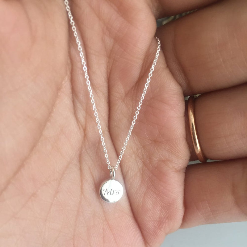 Gold Extra Small Personalised Disc Necklace