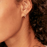 Solid Gold Small Rounded Hoop Earrings