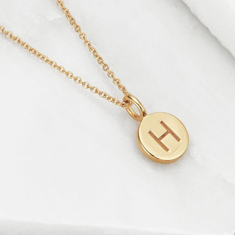 Rose Gold Small Personalised Disc Necklace