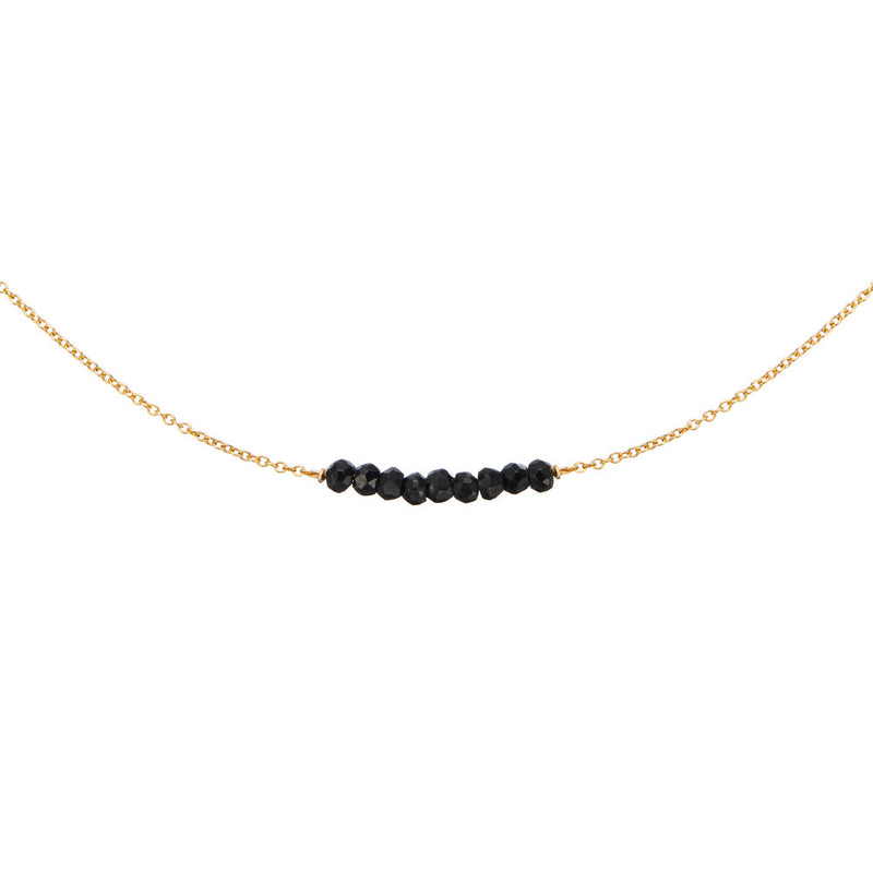 Gold Spinel Gemstone Cluster Choker