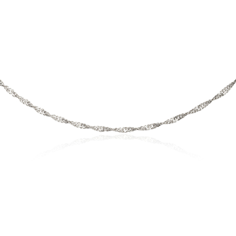 Silver Twisted Rope Chain Necklace