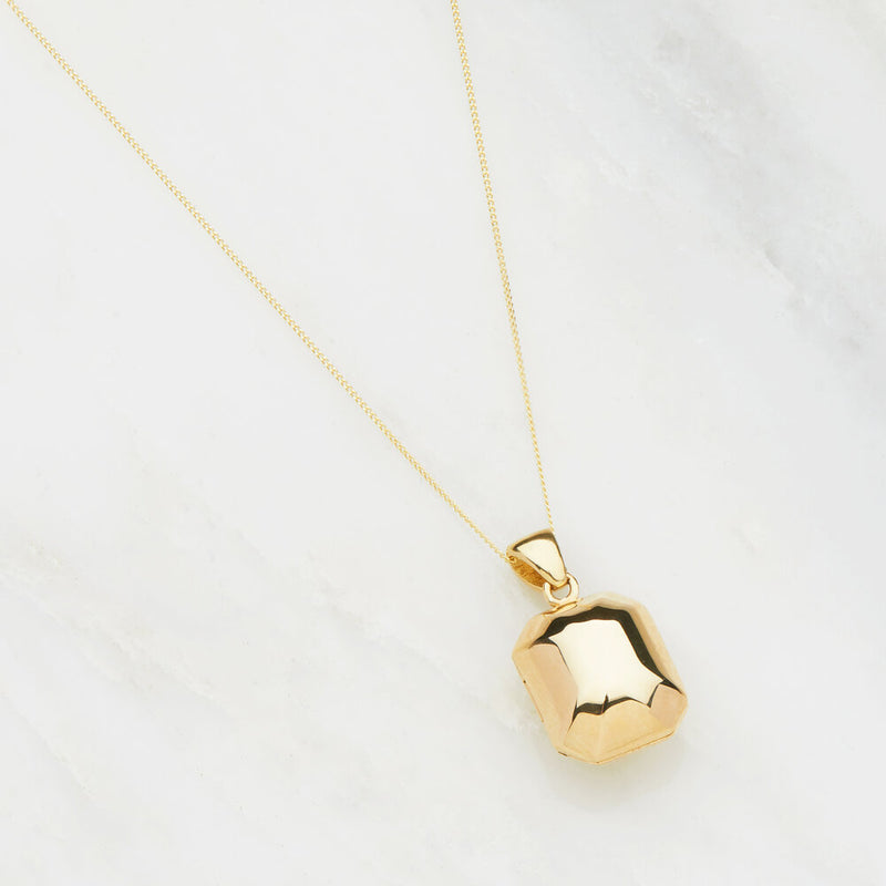 Solid Gold Ball Locket