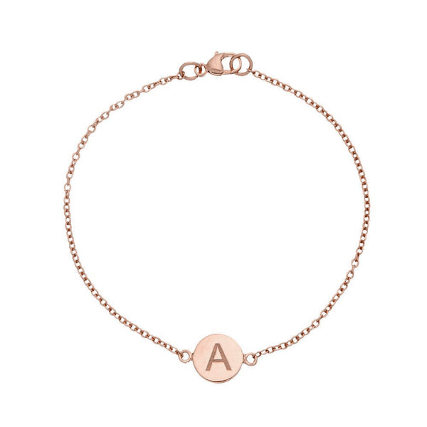 Rose Gold Personalised Disc Bracelet