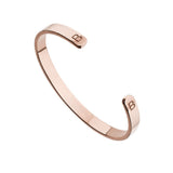 Rose Gold Thick Engraved Bangle