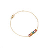 Gold Rainbow Gemstone Cluster Bracelet