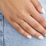 Silver Thin Diamond Style Stacking Ring