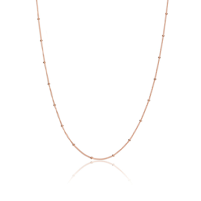 Rose Gold Satellite Chain Necklace