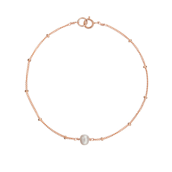 Rose Gold Satellite Pearl Bracelet
