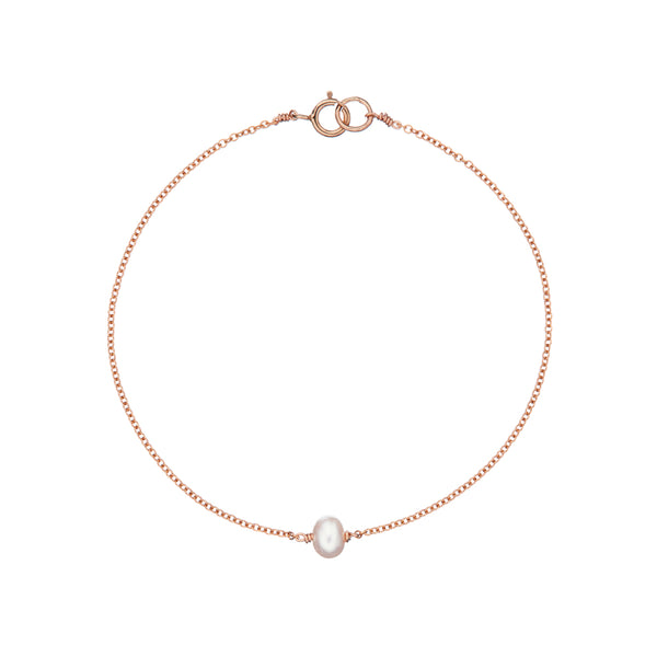 Rose Gold Single Pearl Bracelet