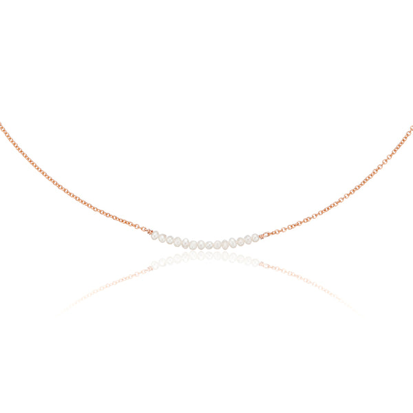 Rose Gold Small Pearl Cluster Choker