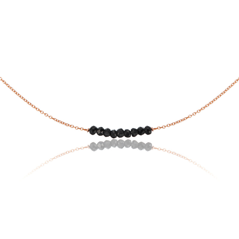 Rose Gold Spinel Gemstone Cluster Choker