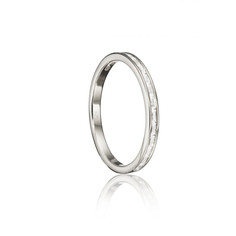 Silver Diamond Style Baguette Eternity Ring