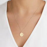 Solid Gold St Christopher Octagonal Medallion Necklace
