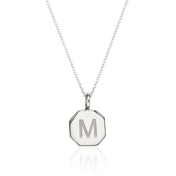 Silver Personalised Hexagon Necklace