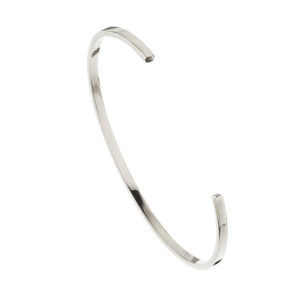 Silver Thin Engraved Bangle