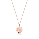 Rose Gold Large Engraved Disc Necklace