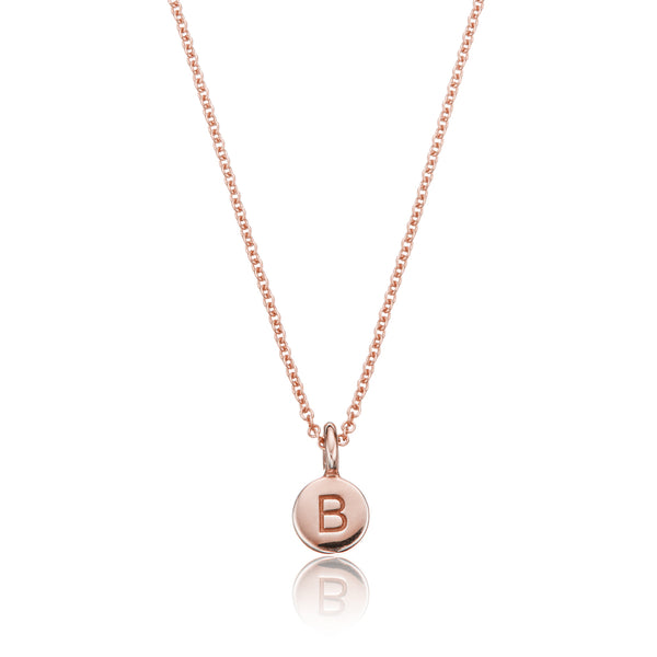 Rose Gold Extra Small Personalised Disc Necklace