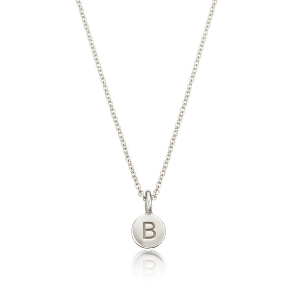 Silver Extra Small Personalised Disc Necklace