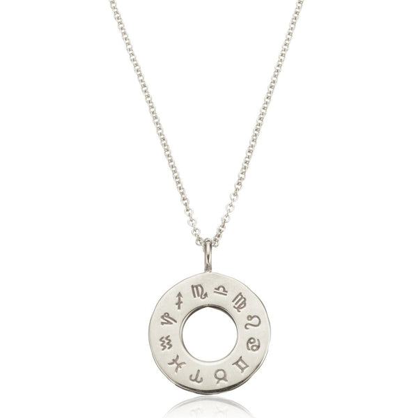 Silver Zodiac Birthstone Necklace