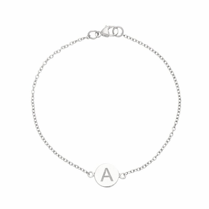 Silver Personalised Disc Bracelet