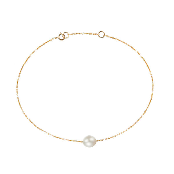 Gold Large Pearl Anklet