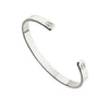 Silver Thick Engraved Bangle