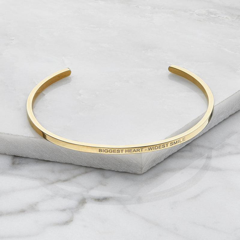 Gold Thin Engraved Bangle