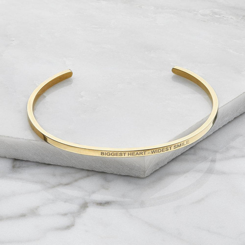 Rose Gold Thin Engraved Bangle