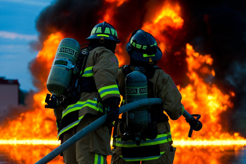 Firefighters with PPE