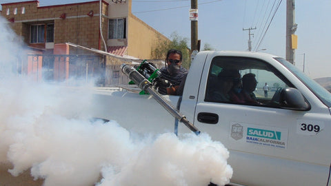 Disinfection by fogger machines