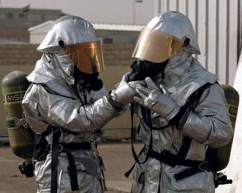 Persons donning PPE