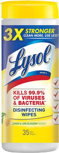 Lysol Disinfecting Wipes With Lemon & Lime Blossom Scent