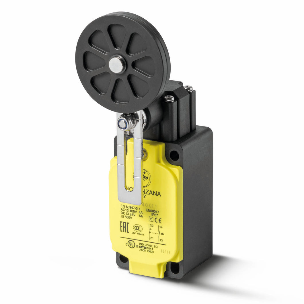 Limit Switch with adjustable Ø50 rubber roller lever
