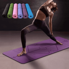 Premium Warrior Adherent Yoga Mat: With Asana Align Body Alignment System