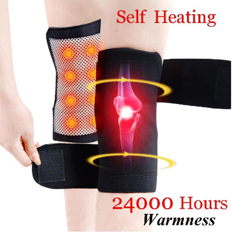 1/2 Pcs Sport Knee Brace Support Kneepad Protector Self Heating Belt Magnetic Protective Knee Massage Therapy for Arthritis