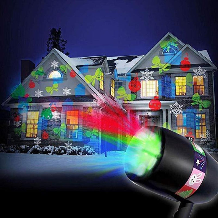 MagicLED: LED projector with 12 interchangeable, festive motifs!