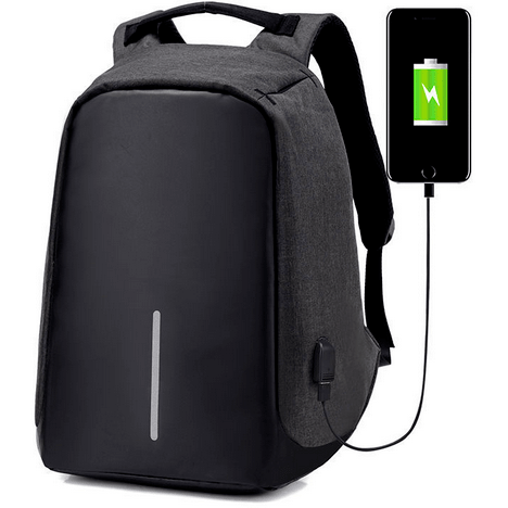 Anti-theft travel backpack: USB charger, Waterproof, Anti-shock, Anti-cut