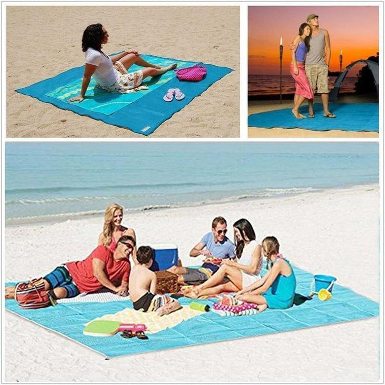 Anti Sand Beach Mat with Pegs: Light and Durable, perfect for on Beaches