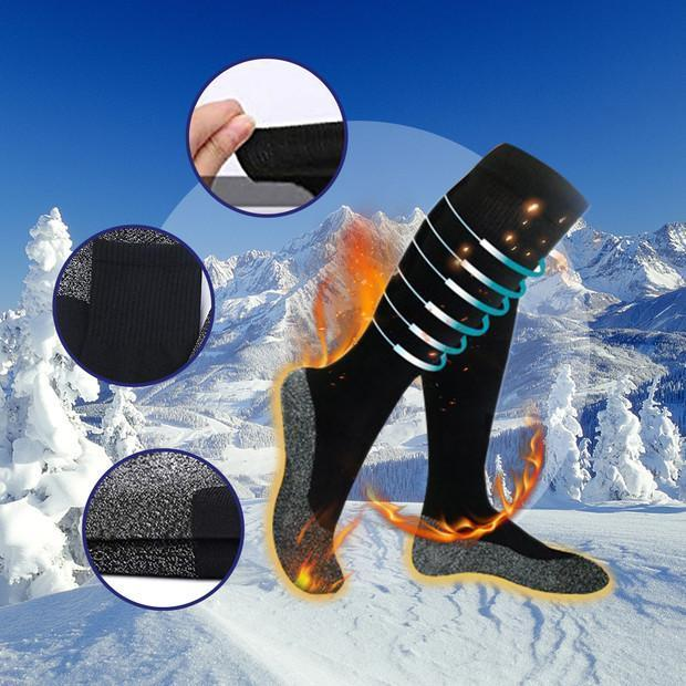 Warm socks: 35 degree constant temperature stocking (2 pairs)
