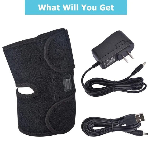 Infrared Heated Knee Brace Wrap Support Massager Injury Cramps Arthritis Recovery Hot Therapy Pain Relief Knee Rehabilitation