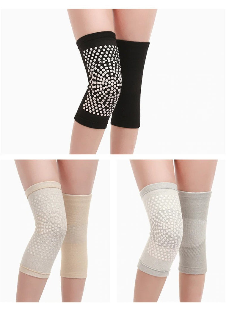 1 Pair Dot Matrix Heating Self Heating knee Pads Brace Kneepad Tourmaline Knee Support for Arthritis Joint Pain Relief Recovery