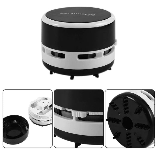 New Useful Desktop Vacuum Cleaner Small Size Clean Scraps Machine Portable Dust Collector For Notebook Computer Keyboard