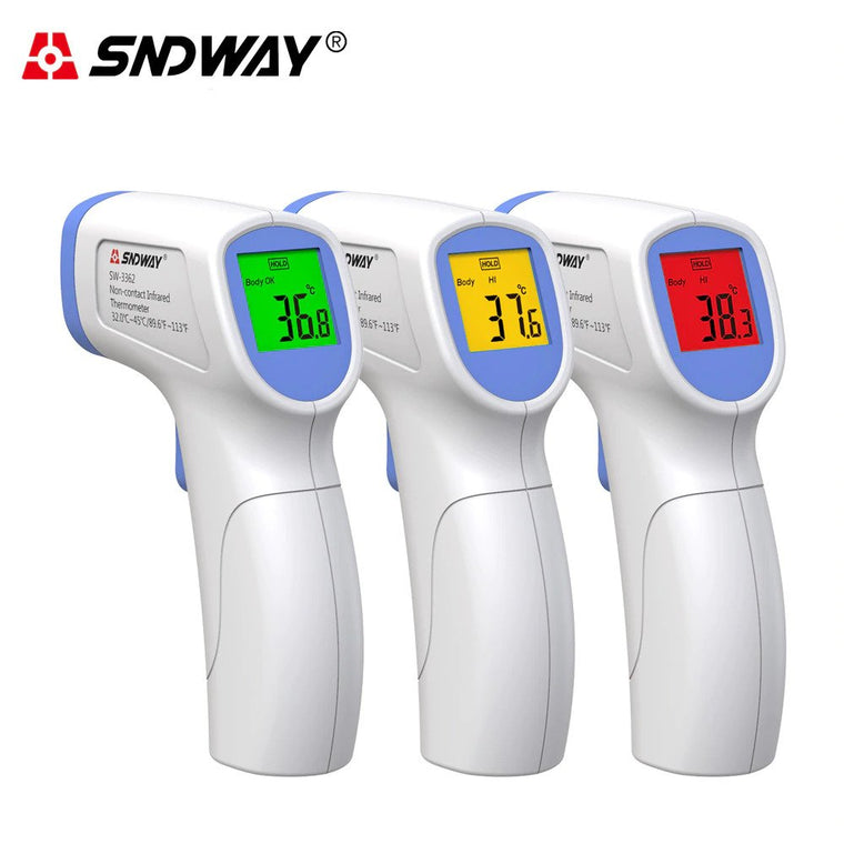 2 in 1 Digital Infrared Thermometer for Body Adult Baby Forehead Ear Fever IR Children Non Contact Body Temperature Measurement